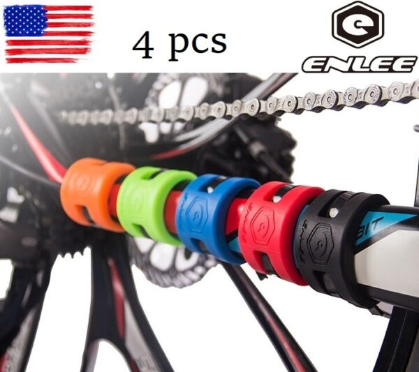 4* Bicycle Frame Chain stay Protector Chain Guard Bike Bash Guards Rubber ring $8.99