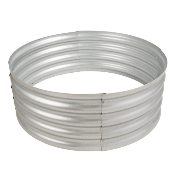 Wood Fire Ring Infinity Wave Style Durable Galvanized Steel Round 36 in x 13 in
