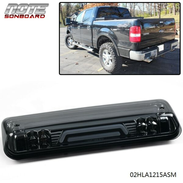 FOR 04 08 FORD F150 3D LED BAR THIRD 3RD TAIL BRAKE LIGHT REAR CARGO LAMP SMOKED