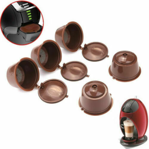 6 PACK Refillable Nescafe Dolce Gusto Capsules Reusable Pods Filters Cups