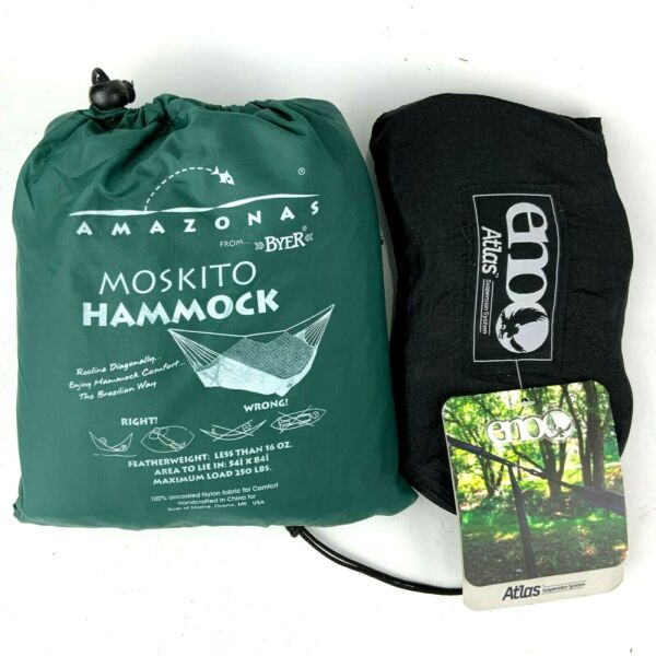 Moskito Amazonas Hammock Byer of Maine mosquito net Eno Atlas Suspension System $39.99