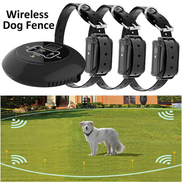 Wireless Electric Dog Fence Pet Containment System Shock Collar For 1 2 3 4 Dogs $51.74