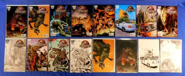 IDW JURASSIC PARK 1 2 3 4 5 SET WITH SKETCH VARIANTS INCENTIVES 16 COMICS $249.99