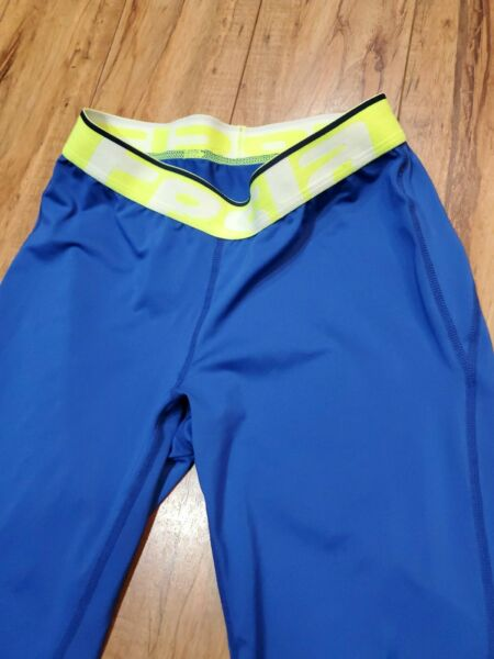 tesla blue base layer polyester blend pants men bottom size s