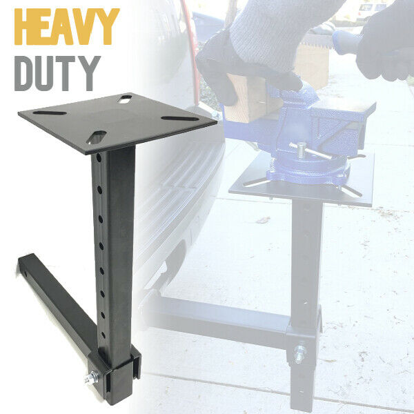 Hitch Mount Vise Plate Holder Mounting Heavy Duty Adjustable Durable Receiver $109.99