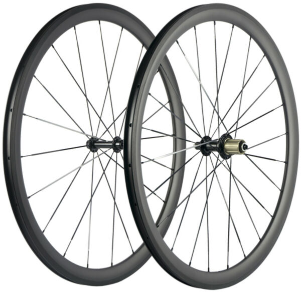 38mm Carbon Wheels 23mm Clincher Carbon Wheelset UD Fit For Shimano 8 9 10 11s $348.00