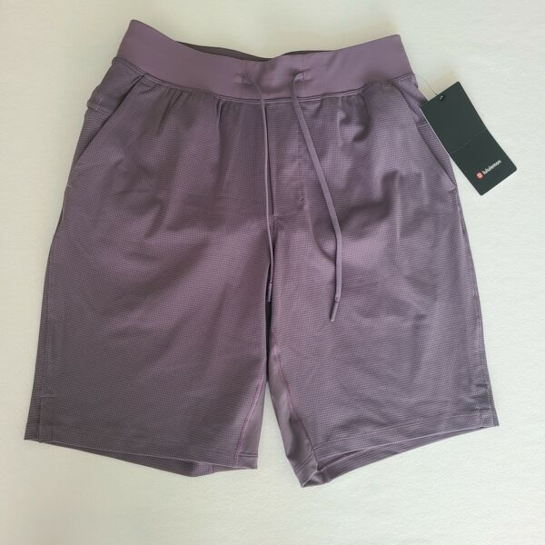 Lululemon Mens THE Short 9quot; Lined Warpsns Size Large Gray GRHP NEW WITH TAGS