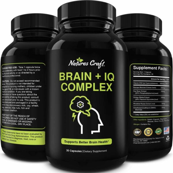 Vitamin B12 Nootropic Brain Support Memory Supplement for Brain Boost and Energy