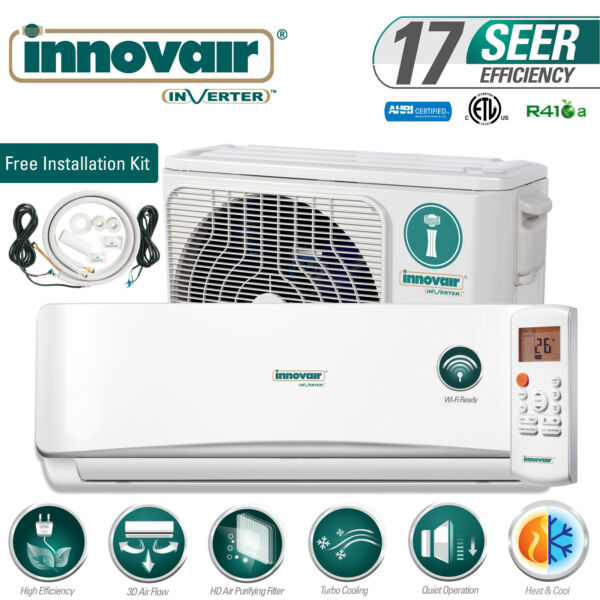 24000 BTU Mini Split Air Conditioner Heat Pump Ductless 230V INNOVAIR 17 SEER $989.00