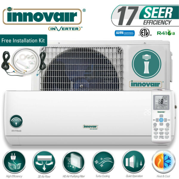 12000 BTU Mini Split Air Conditioner Heat Pump Ductless 115V INNOVAIR 17 SEER $549.00