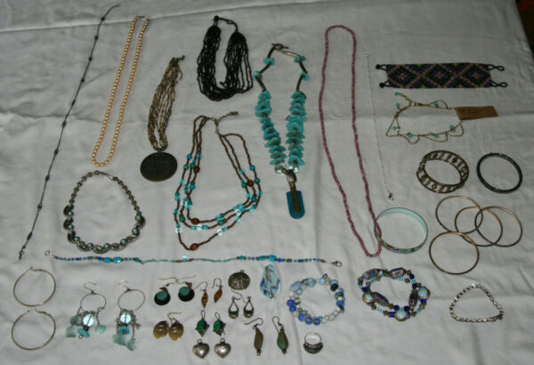 Mixed Jewelry Lot Vintage Modern Costume Handmade
