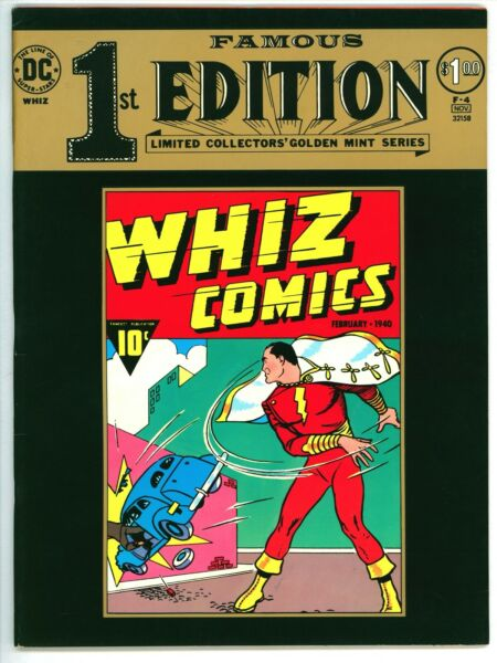 Famous 1st Edition F 4 DC 1974 Whiz Comics 1 Captain Marvel Shazam Treasury b