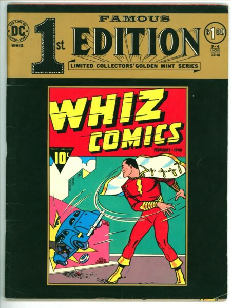 Famous 1st Edition F 4 DC 1974 Whiz Comics 1 Captain Marvel Shazam Treasury e
