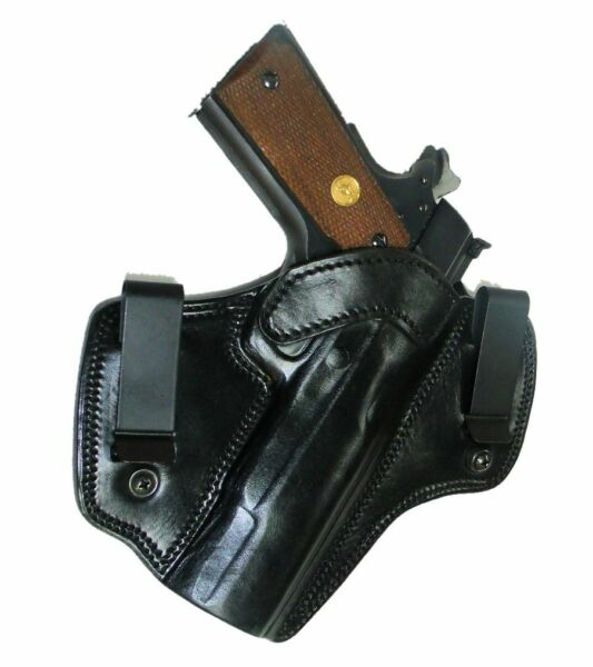 Tagua OWB or IWB Colt 1911 4quot; Barrel Holster Right Handed Black Leather DCH 210