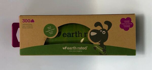 Earth Rated 300 Green Lavender Scented Dog Poop Bags $14.50