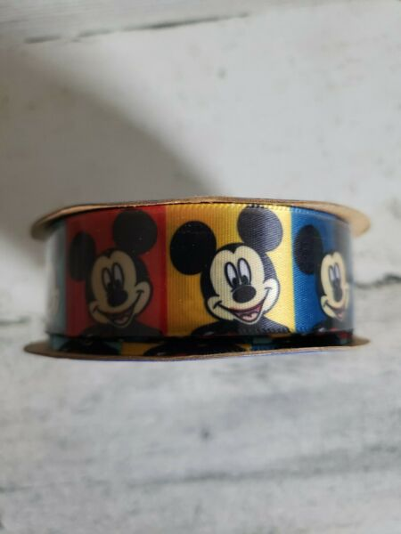 3 Yards 7 8quot; Mickey mouse mouse Offray DISNEY bright colored RIBBON