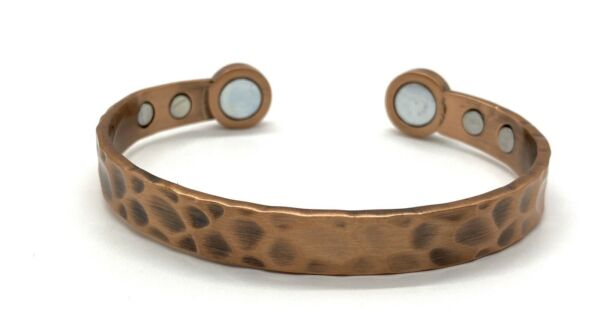copper bracelets for arthritis With Magnets Hammered Style Healing Energy