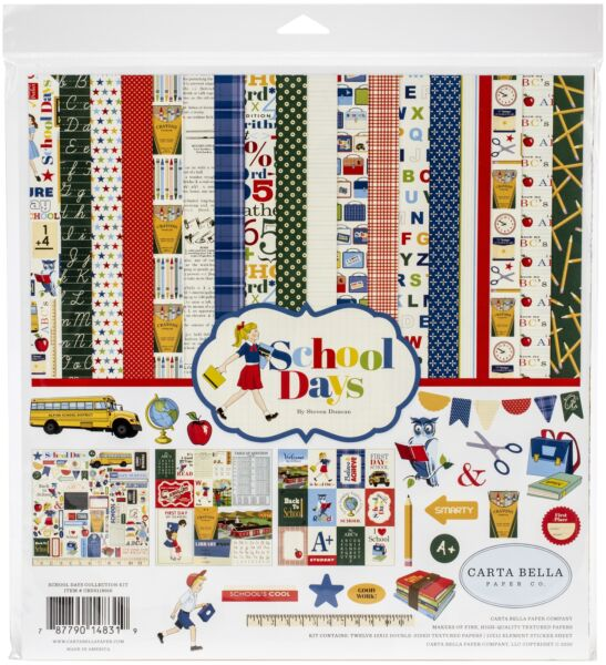 Carta Bella Collection Kit 12quot;X12quot; Double Sided Sheets School Days