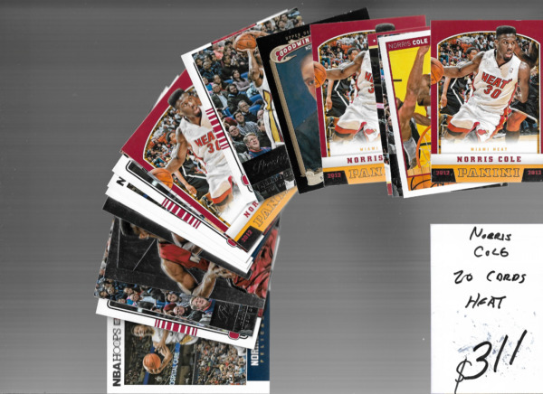 Norris Cole heat 20 card lot *combine Shipping $1.00