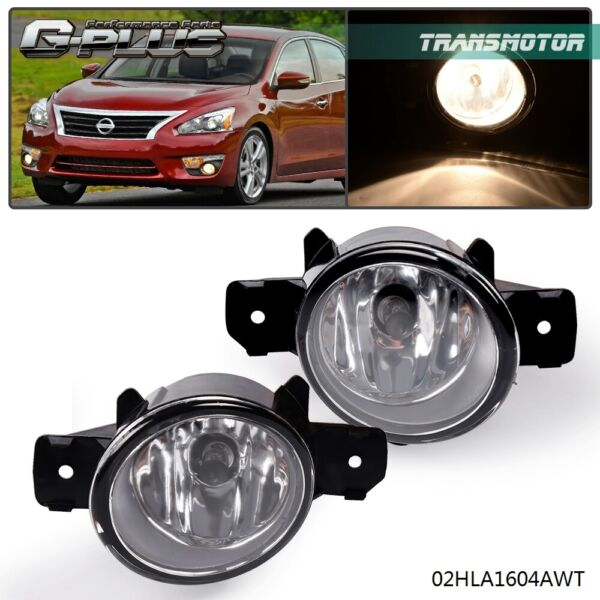 1 Pair left amp; Right For Nissan Altima Maxima Rogue Sentra Clear Lens Fog Lights $16.03