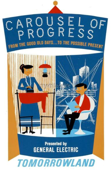 TOMORROWLAND CAROUSEL OF PROGRESS 2quot; x 3quot; Fridge MAGNET ART DISNEYLAND