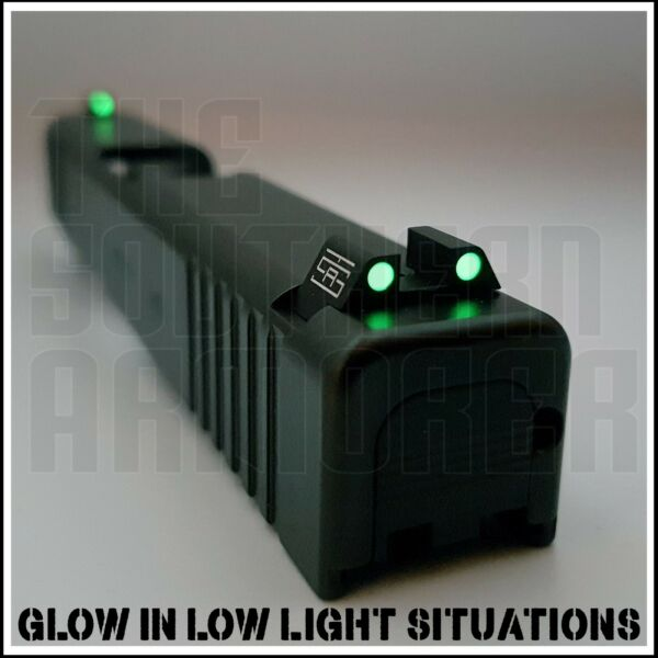 NIGHT SIGHTS FOR GLOCK 42 43 43X 48 FRONT AND REAR SET TSA GLOW IN DARK $34.99
