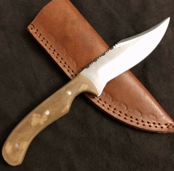 HAND MADE HIGH CARBON KNIFE D2 STEEL HIMALAYAN CHINAR WOOD HANDLE HUNTING KNIFE $34.95