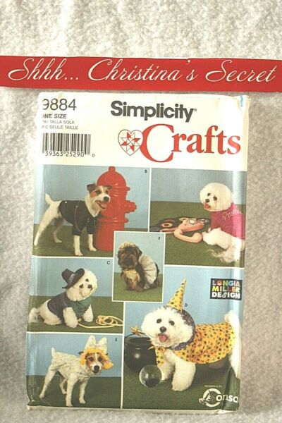 SIMPLICITY 9884 Coats Costumes Dogs Crafts Longia Millen Sewing Pattern One Size $9.69