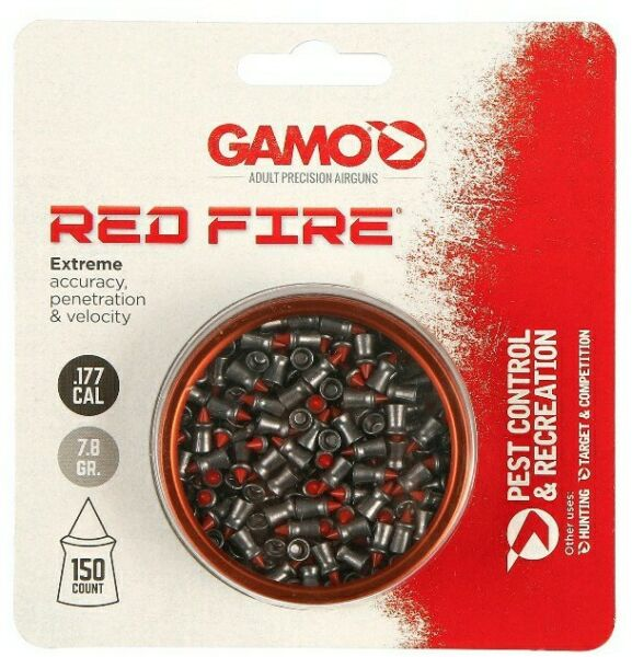 Gamo .177 Cal 7.8gr. 150ct RED FIRE Extreme Accuracy Penetration Pellets Ammo $12.69