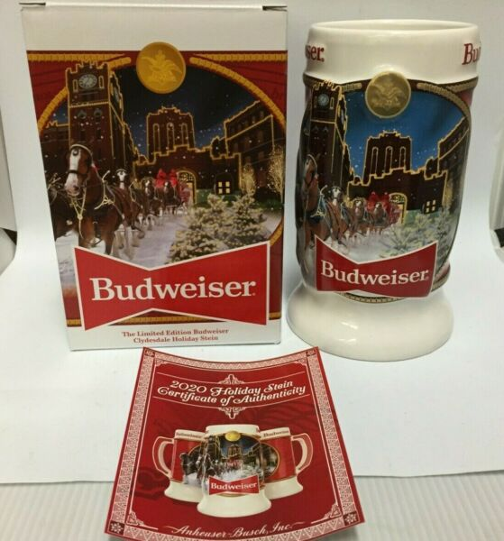 2020 Budweiser Holiday stein beer mug from annual Christmas series BRAND NEW