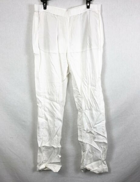 NEW J. Jill White Easy Linen Stretch Pants Size MT $19.95