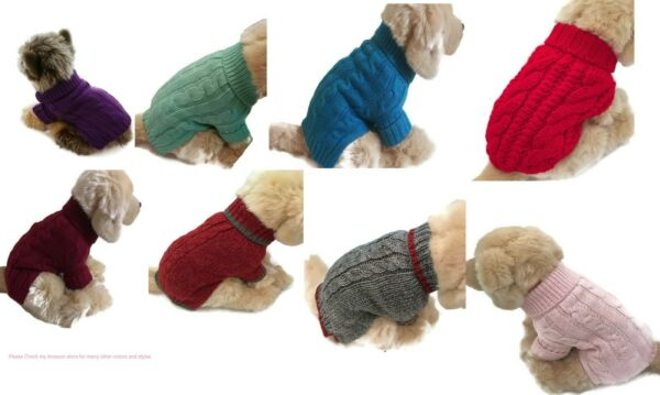 Le Petit Chien Brand Small Dog Sweater Puppy Clothing Pet Supply $9.99