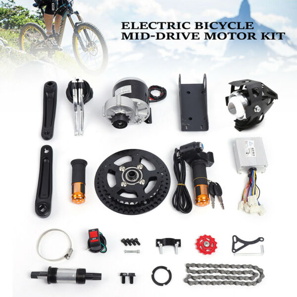 350W 24V ELECTRIC BICYCLE MID DRIVE MOTOR KIT CONVERSION KIT f 16quot; 26quot; DIY BIKE $210.00