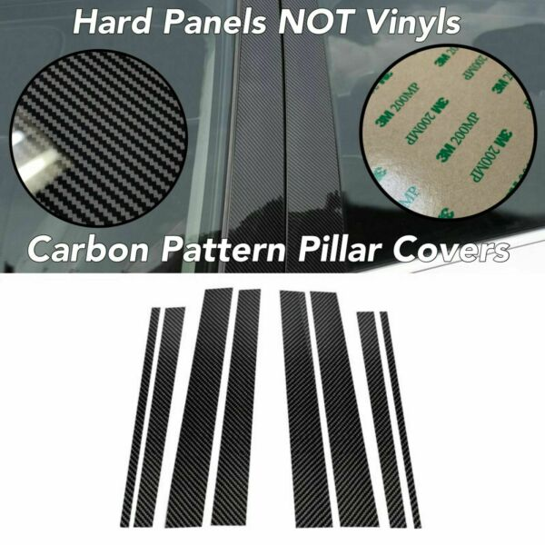 12ps Gloss CARBON Pattern Look Window Pillar Panel Post Trim FOR 14 18 Forester $59.00