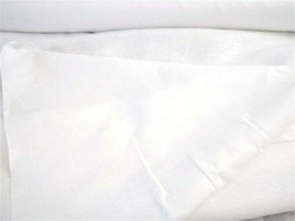 100% Linen Fabric natural white 6.0 oz. per sq yd 1 linear yard BTY 59 quot; wide