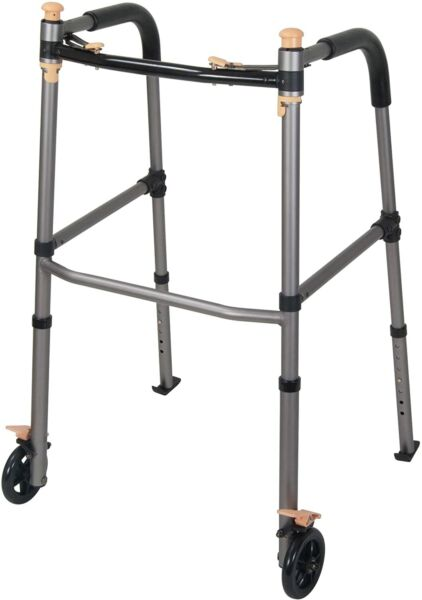 Drive Medical Lift Walker with Retractable Stand Assist Bars Gray $27.49