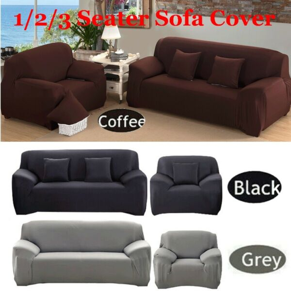 1 2 3 Seater Stretch Elastic Chair Sofa Cover Couch Cover Slipcover Protector US $18.75