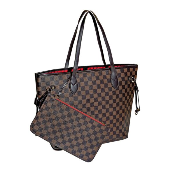 LUXOURIA Checkered Tote Bag Inspired Designer Bag $58.50
