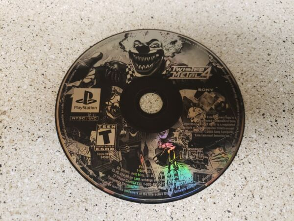 Twisted Metal 4 Sony PlayStation 1 1999 PS1 PSX works great free shipping