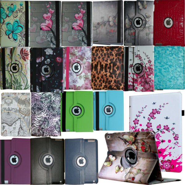 For iPad 10.2quot; 7th 8th Generation 360 Rotating Leather Smart Stand Case Cover