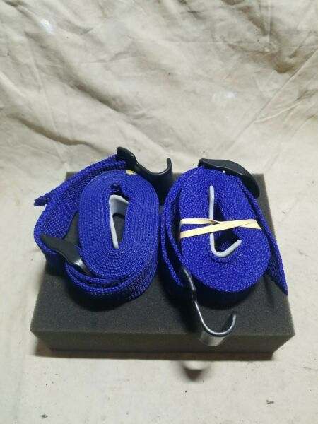 Thule Roof Rack Winch Straps For Tie Down Car Roof Cargo Blue Nylon 2 Used $14.99