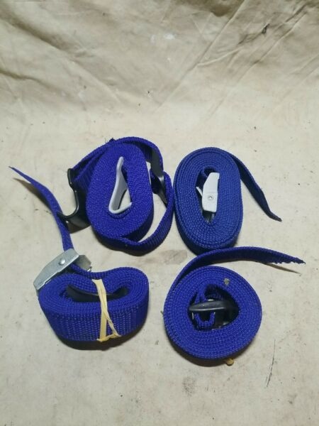 Thule Roof Rack Winch Straps For Tie Down Car Roof Cargo Blue Nylon 4 Used Lot $19.99