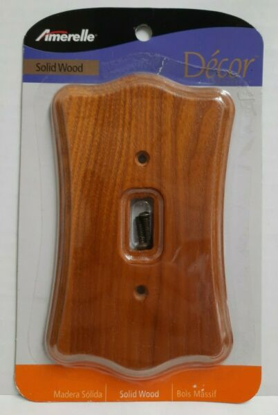 Amerlle Decor Solid Wood Switch Plate Wall Plate Toggle Switch Cover C176T New $7.95