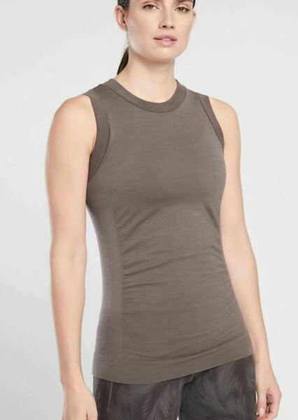 NEW Athleta Foresthill Ascent Tank Womens NWT Md S XS black tan gray Coffee sage