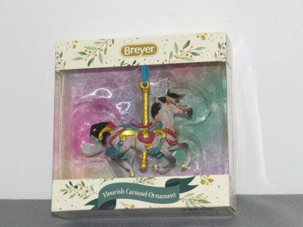 Breyer Horses 2020 Christmas Holiday Carousel Ornament Flourish 700624 NIB SHARP