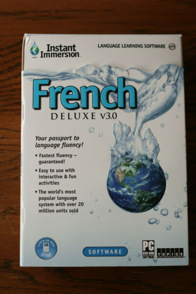 Instant Immersion French Deluxe Version 3.0: Audio CD and Interactive DVD Set $10.00