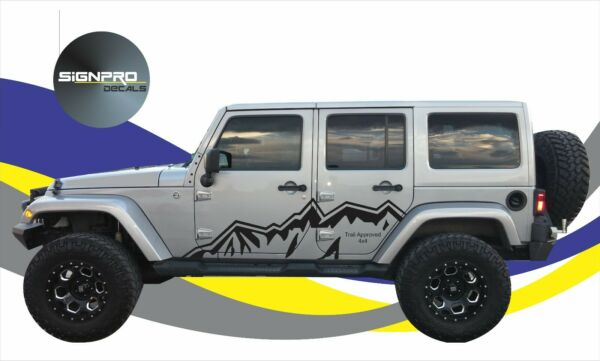 Side Door Range Mountain Fender Decal fits jeep Wrangler compatible with Rubicon $59.99