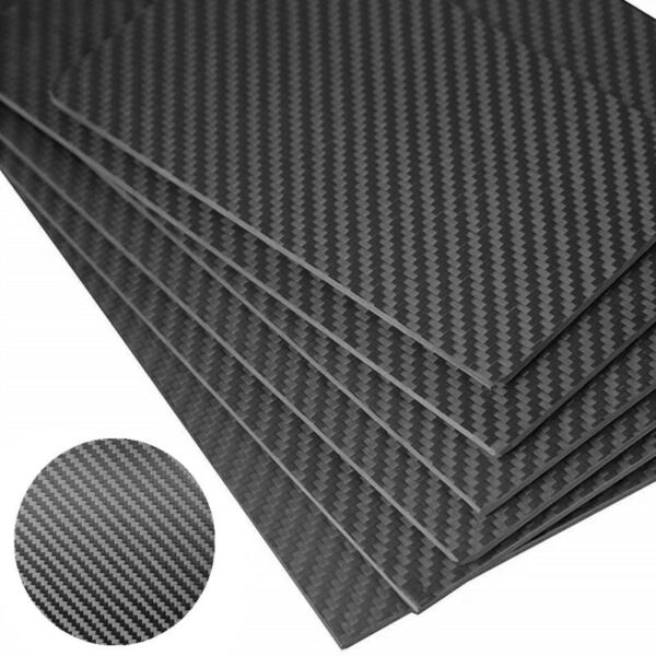 Carbon Fiber Plate Panel 100% Twill Carbon Sheet Composite Material 100x250mm $29.99