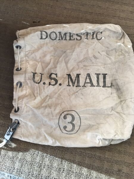 Vintage Domestic US Mail Bag #3 Heavy Canvas mail room tote travel carrier 4 74 $59.99