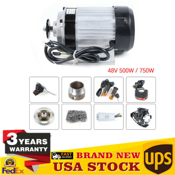 750W 48V Electric Bicycle Brushless Motor Geared Motor For Tricycle E Bike DIY $245.00
